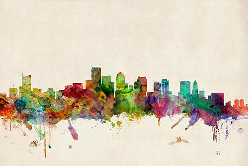 Michael Tompsett - Boston Skyline Print
