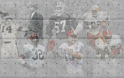 Joe Hamilton - Cleveland Browns Legends Print