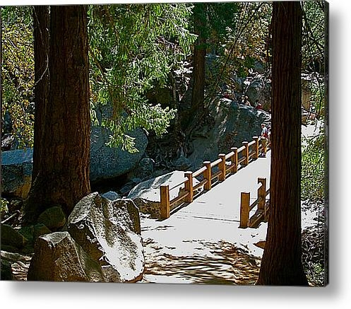 Ruth Hager - Bridge across Merced Rive... Print