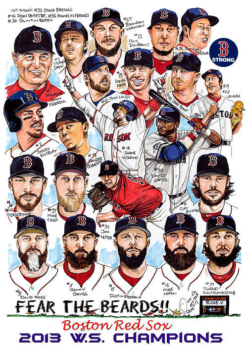 Dave Olsen - Boston Red Sox WS Champio... Print