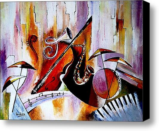 Indira Mukherji - The Colour of Music  Print