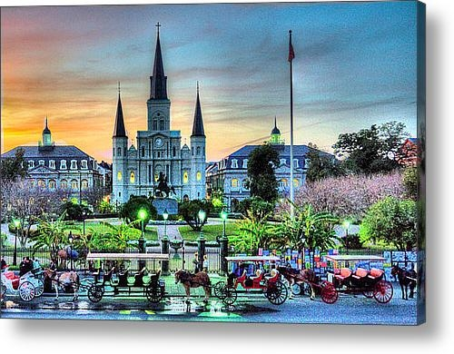 Ellis C Baldwin - Jackson Square Sunset Print