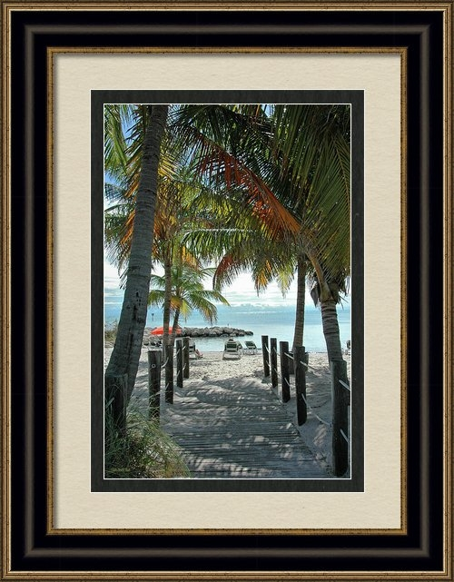 Frank Mari - Path To Smathers Beach - ... Print