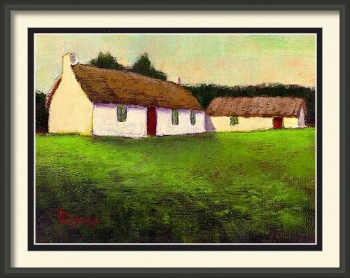 Bernie Rosage Jr - Irish Thatched Roof Cotta... Print