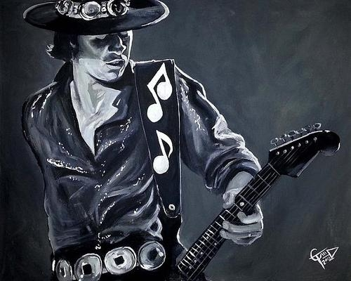 Tom Carlton - Stevie Ray Vaughan Print
