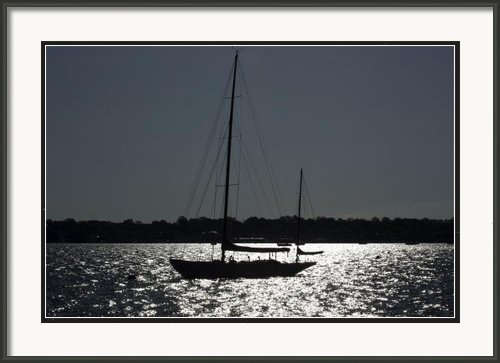 Joel P Black - Sailboat in Silhouett  Print