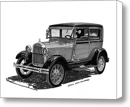 Jack Pumphrey - 1928 Model A Ford 2 dr Se... Print
