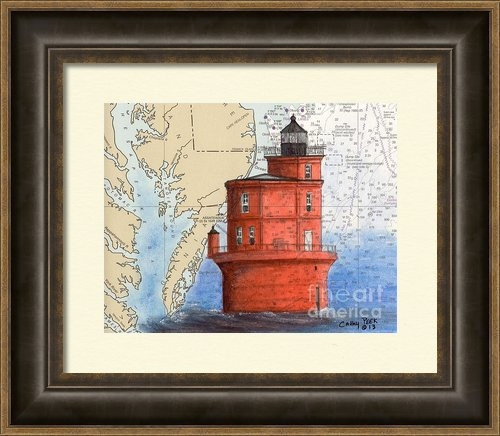 Cathy Peek - Wolf Trap Lighthouse VA N... Print