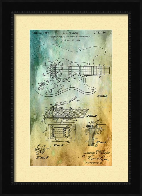 Nomad Art And  Design - Fender Tremolo Patent Print