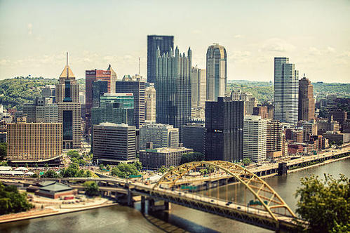 Lisa Russo - The Pittsburgh Skyline Print