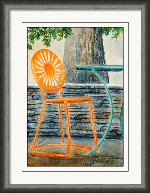 Thomas Kuchenbecker - The Terrace Chair Print
