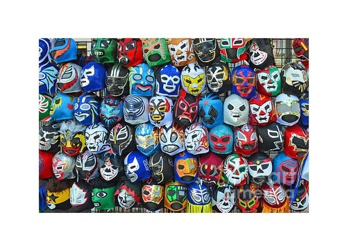 Jim Fitzpatrick - Wrestling Masks of Lucha ... Print