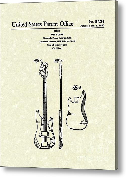 Prior Art Design - Fender Bass Guitar 1960 P... Print