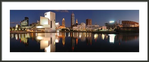 Jon Holiday - Cleveland Skyline at Dusk Print