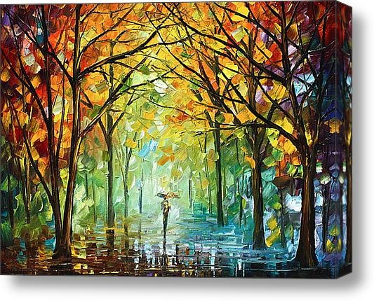 Leonid Afremov - October in the Forest Print