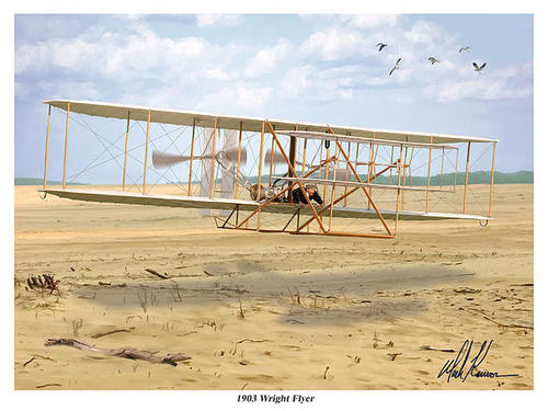Mark Karvon - 1903 Wright Flyer Print