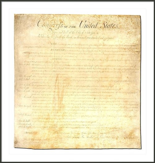 Ron Hedges - Bill of Rights Print