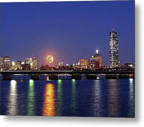 Juergen Roth - Super Moon over Boston Print