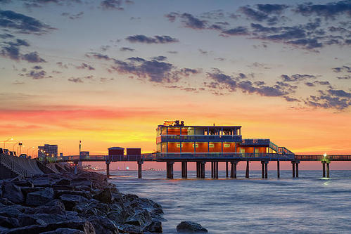 Silvio Ligutti - Sunrise at the Pier Print