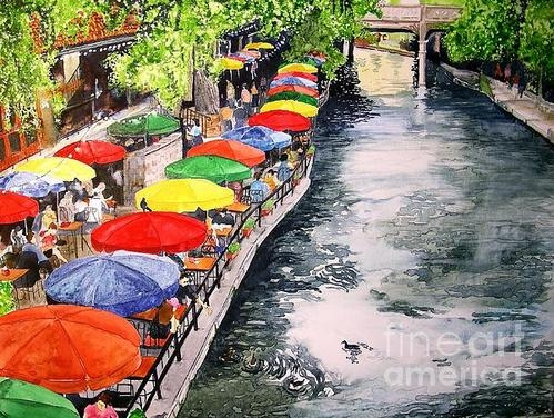 Tom Riggs - San Antonio River Walk Print