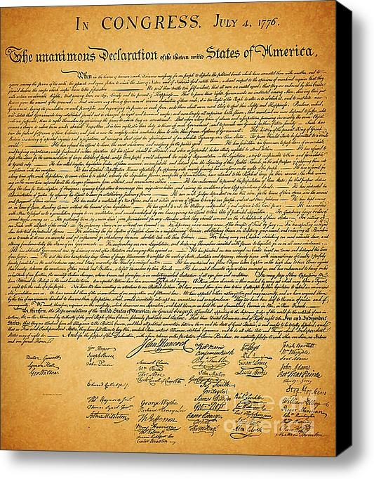 Wingsdomain Art and Photography - The United States Declara... Print