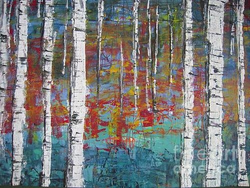 Helvi Smith - Birch Trees Print