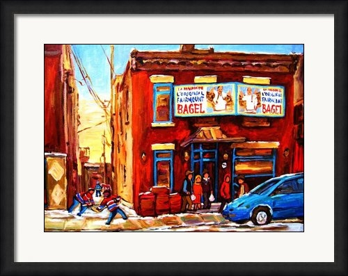 Carole Spandau - Fairmount Bagel in Winter Print