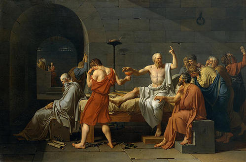 Jacques Louis David - Death of Socrates Print