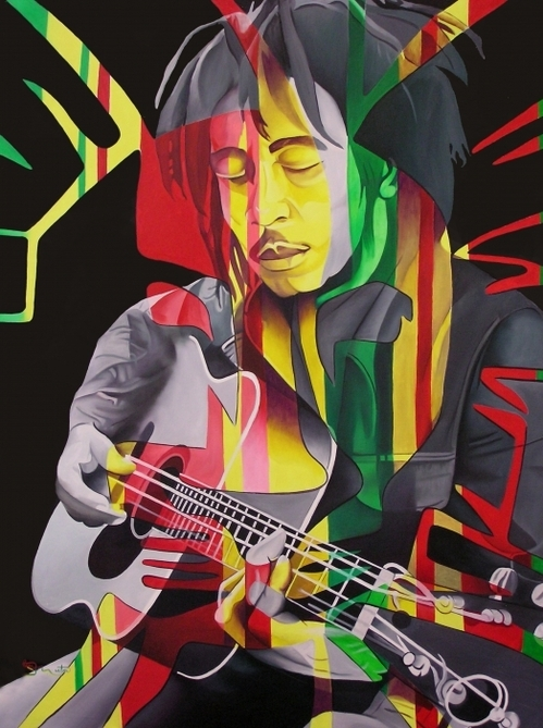 Joshua Morton - Bob Marley and rasta Lion Print