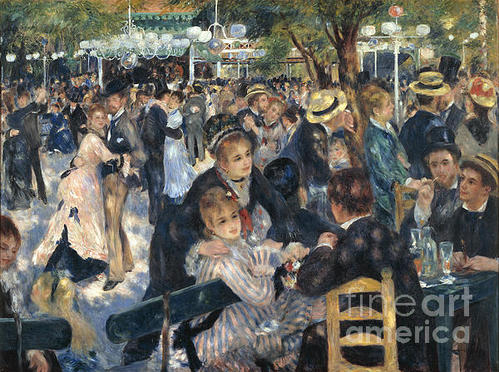 Extrospection Art - Bal du Moulin de la Galet... Print
