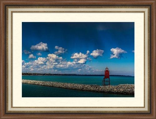 Randy Scherkenbach - Racine Harbor Lighthouse Print