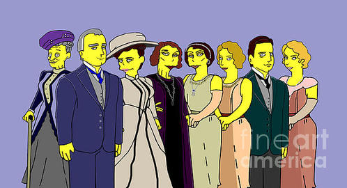 Donna Huntriss - Downton Abbey - Cast Eigh... Print