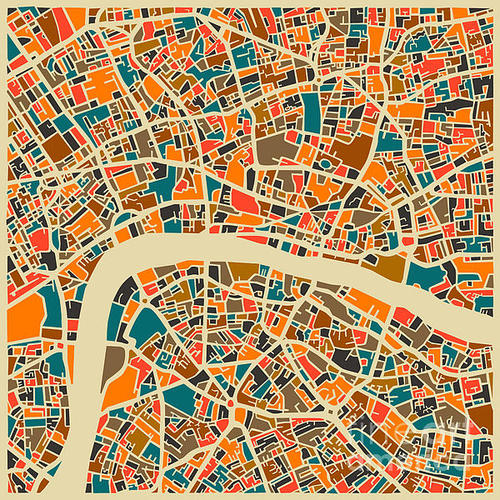 Jazzberry Blue - London Print