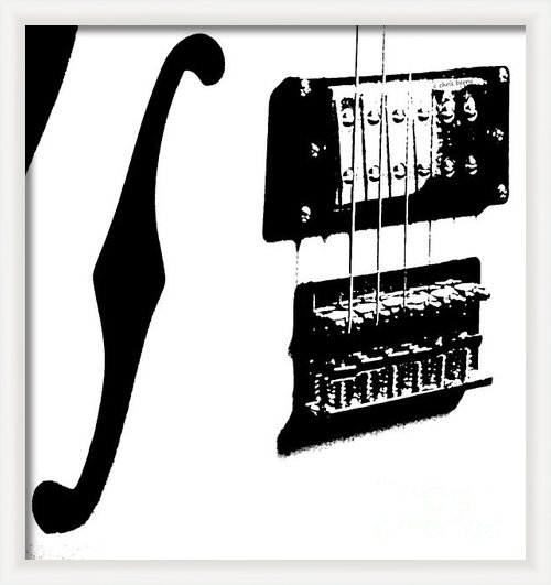 Chris Berry - Guitar Graphic in Black a... Print
