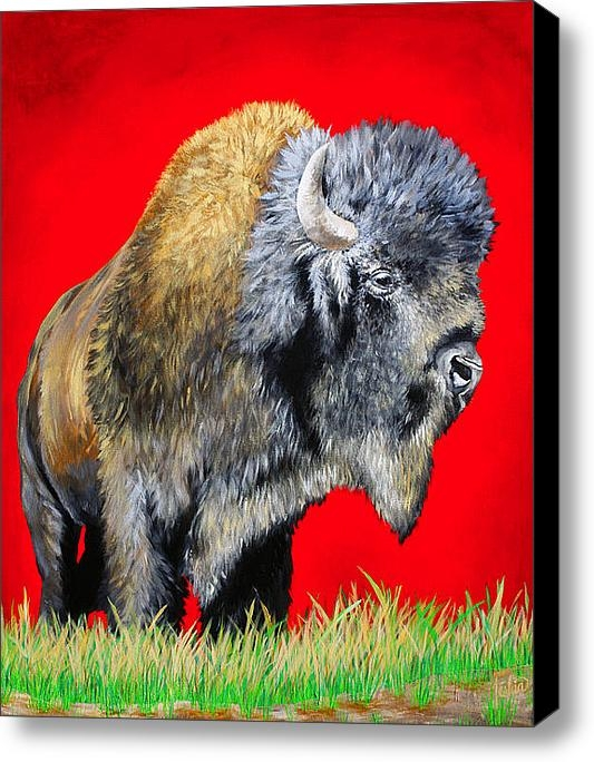 TeshiaArt - Buffalo Warrior Print