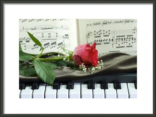 Sophie De Roumanie - Music and Roses Print