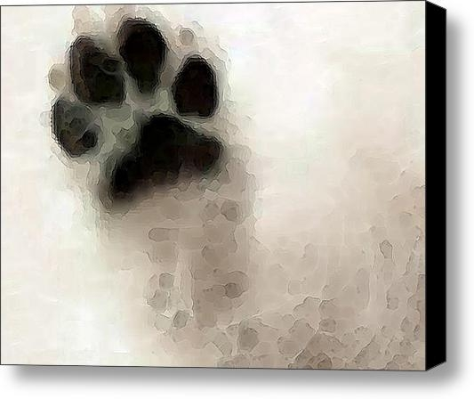 Sharon Cummings - Dog Art - I Paw You Print