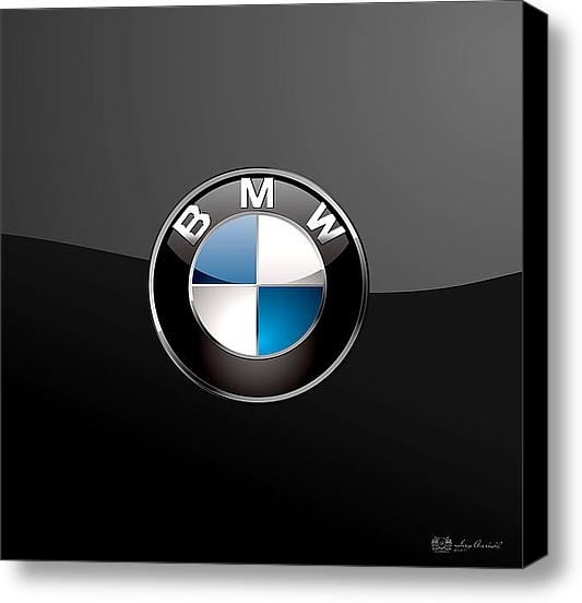 Serge Averbukh - BMW Badge on Black Print