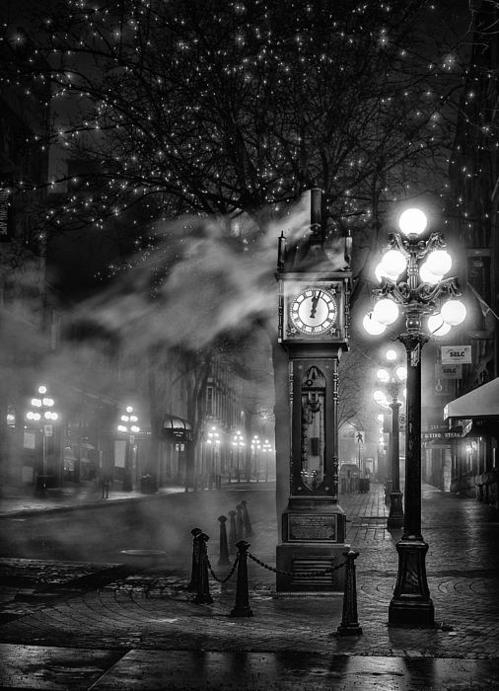 Alexis Birkill - Gastown Steam Clock Print