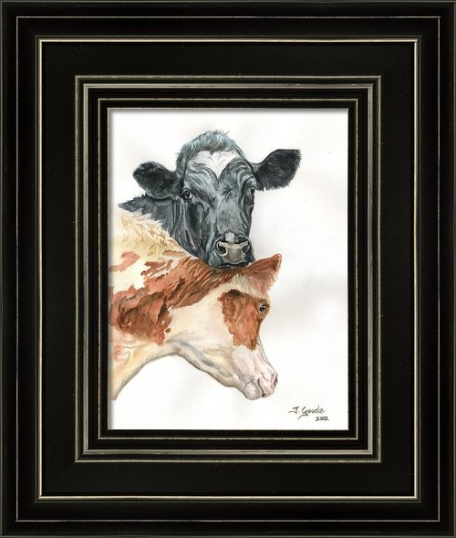 Jana Goode - Cow with heart Print