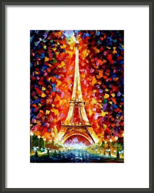 Leonid Afremov - Paris - Eiffel Tower Ligh... Print