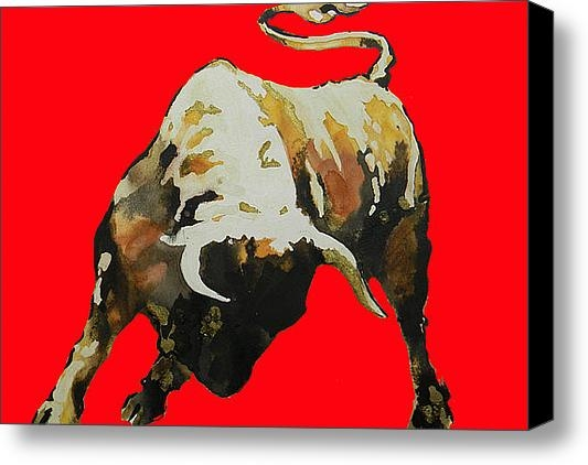 Juan Jose Espinoza -  Fight Bull In Red Print