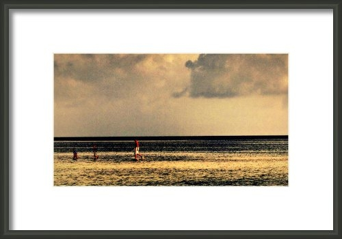 Jim Rabenstine - At the Sandbar Print