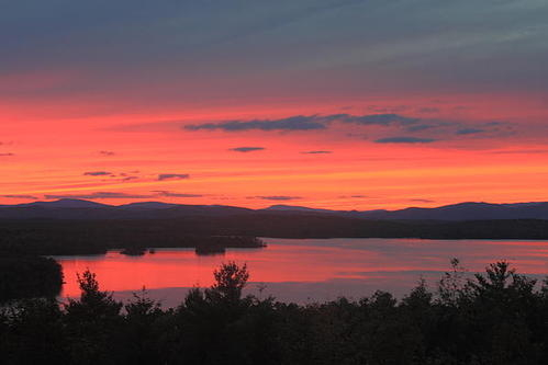John Burk - Lake Winnipesaukee Sunset... Print