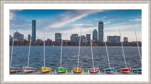 Paul Treseler - Skyline Sailboats Print
