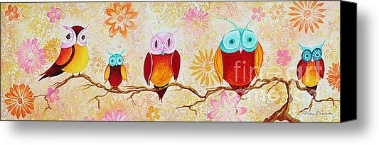 Megan Duncanson - Decorative Whimsical Owl ... Print