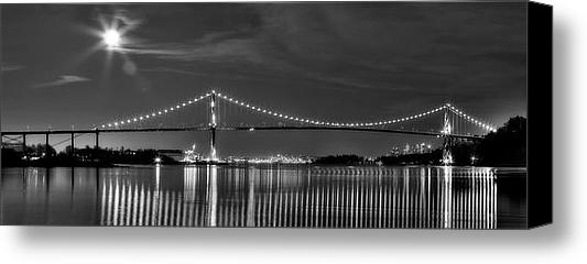 David  Naman - Lions Gate Bridge Black a... Print