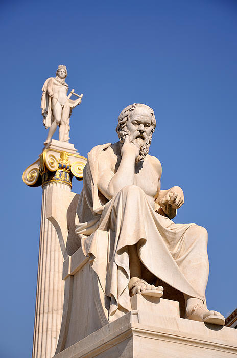 George Atsametakis - Statues of Socrates and A... Print