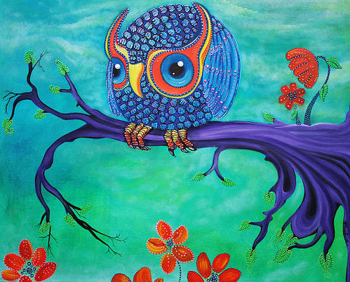 Laura Barbosa - Enchanted Owl Print