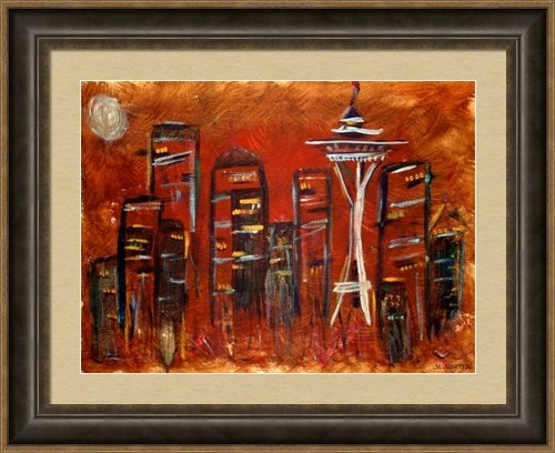 Melisa Meyers - Seattle Skyline Print